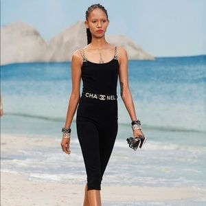 RARE Chanel Spring 2019 Black Pearl 19P Jumpsuit